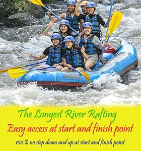 the longest rafting in bali